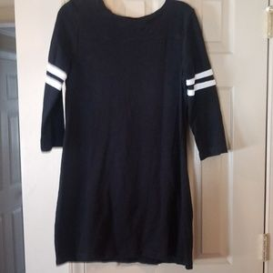 3/4 sleeve varsity look mini dress/tunic